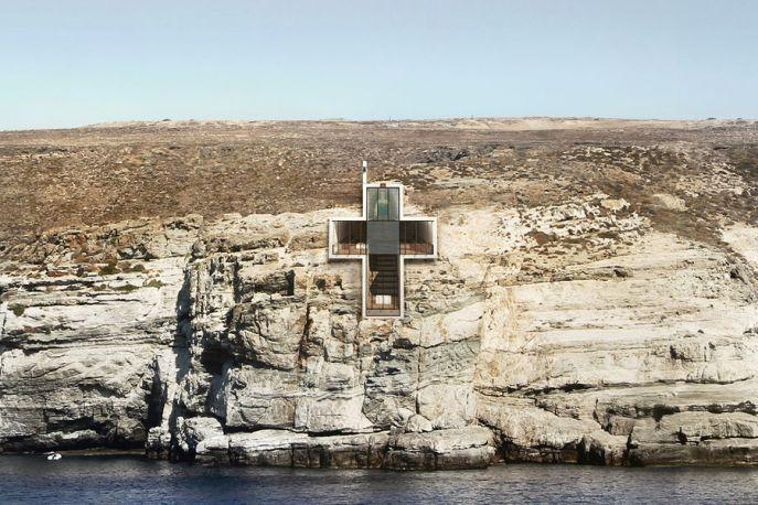 Chapelle Sainte-Croix-de-Vie - vue de la façade
