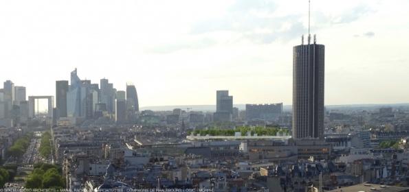 Vue aérienne sur la ville