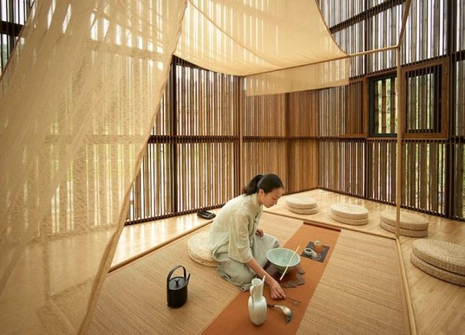 Biennale internationale d'architecture en bambou Li Xiaodong Architecte, Centre de design, 2016.