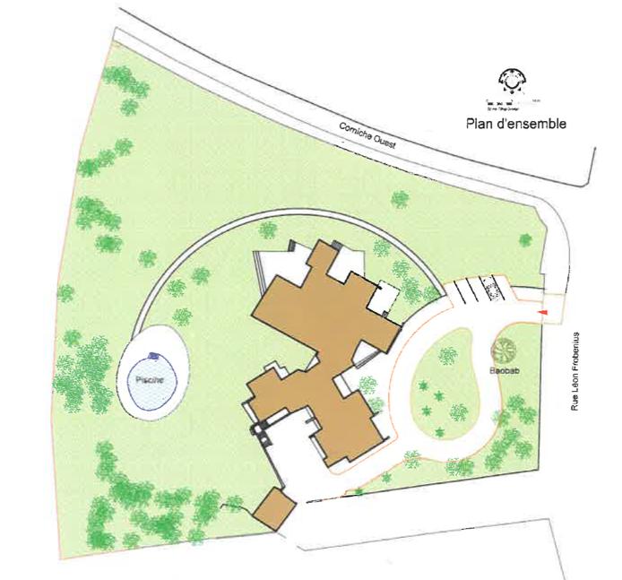Figure 3 - Plan de Masse de La Maison de Senghor